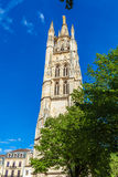 High Gothic Bell Tower of Catherdal, Bordeaux Stock Image