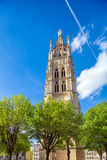 High Gothic Bell Tower of Catherdal, Bordeaux Royalty Free Stock Photo