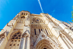 High Gothic Bell Tower of Catherdal, Bordeaux Royalty Free Stock Photography