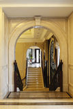 High-grade club stairs arch,stone arches, escalators and curtain,  flower Stock Photo