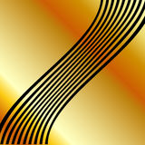 High grade gold metal background with silver swirls Stock Images