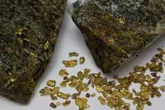 Free High-Grade Gold Ore And California Placer Gold Nuggets Royalty Free Stock Images - 102834499