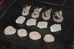 High grade Teppanyaki. Grilled cooking high grade teppanyaki Stock Photo