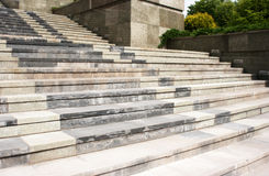 High granite staircase Royalty Free Stock Photography