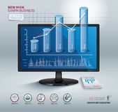 High graph success business. Vector high graph success business Stock Image