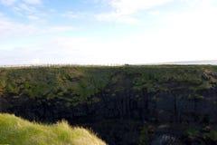 High green cliffs walk Stock Photo