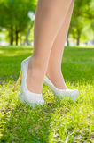 High Heals in Grass Stock Photography