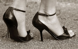 High-heel. Legs and high-heel Royalty Free Stock Photo