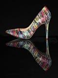 High Heel. On black background Stock Photography