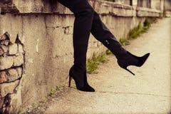 High heel boots Stock Image