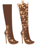 High heel decorated of flowers royalty free illustration