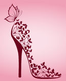High Heel From Beautiful Butterflies Royalty Free Stock Images