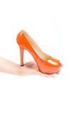 High heel on the hand. Stock Image