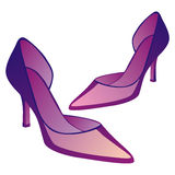 High heel pair of shoes Royalty Free Stock Images
