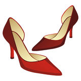 High heel pair of shoes Stock Photo