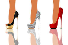 High heel party shoes stock photo