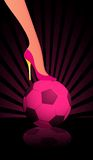 High heel pink soccer Stock Photo