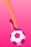 High heel pink soccer Stock Images