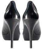 High heel platform shoes. Pair of high heel shoes Stock Photo