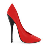 High heel red women shoes  on white Royalty Free Stock Image