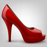 High heel shoe. Image of a red high heel shoe Stock Photos