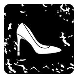 High heel shoe icon, grunge style Stock Photo