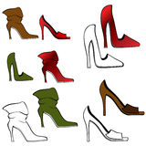 High Heel Shoe Set Stock Photos
