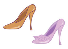 High-heel shoes Royalty Free Stock Photo
