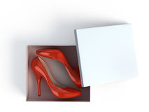 High heel shoes in box Stock Images