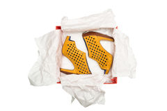 High heel shoes in box Royalty Free Stock Photography