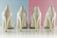 High heel shoes - Pantone color of the year 2016 Royalty Free Stock Photos