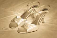 High heel shoes and Pearls Royalty Free Stock Photography