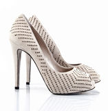 High heel shoes on white Stock Images