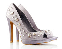High heel shoes on white Royalty Free Stock Photos