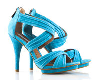 High heel shoes on white Royalty Free Stock Photography