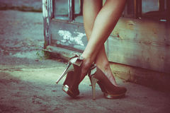 High heel shoes Royalty Free Stock Photography
