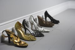 High Heel shows on the floor Royalty Free Stock Image