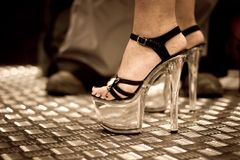 High heel side view Stock Photo