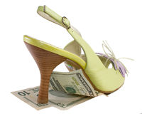 High heel summer shoe Stock Images