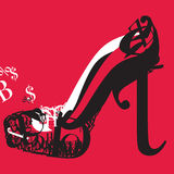 High Heel Typography. Typography image of high heel shoe for shopaholic fashionista girls Royalty Free Stock Images