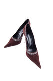 High heel velvet shoe Royalty Free Stock Photo
