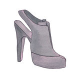High heel woman shoe. Shoe with stiletto heel. Fashion illustrat Royalty Free Stock Photography