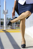 High Heel Woman with Sour Legs Stock Photography