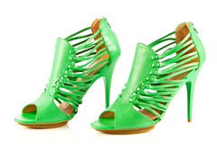 High heel women shoes on white background accesories Stock Photos