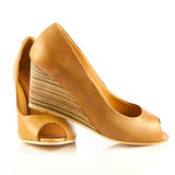 High heel women shoes on white background accesories Royalty Free Stock Photography
