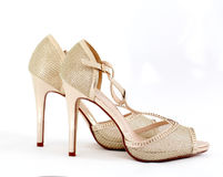 high heel women shoes on white background Royalty Free Stock Photo