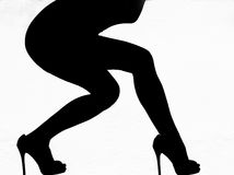 High Heeled Curves Royalty Free Stock Images