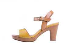 High-heeled female shoes Stock Images