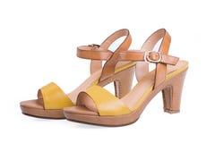 High-heeled female shoes Royalty Free Stock Image