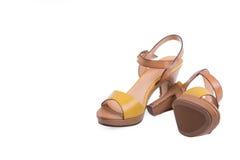 High-heeled female shoes Stock Photo